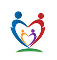 loving family people figures icon vector image vector image