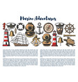 marine adventure nautical objects vector image vector image