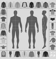 men clothing set vector image vector image
