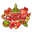 Merry Christmas invitation card with holiday vector image