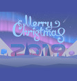 merry christmas vibrant gradient greeting card vector image