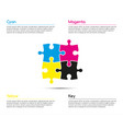 minimalistic infographic template vector image vector image