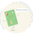 money income concept in line art style vector image vector image