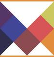 mosaic pop art logo vector image vector image