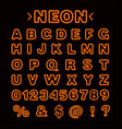 neon lights alphabet vector image