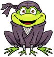 Ninja frog vector image vector image