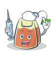 nurse tea bag character cartoon art vector image vector image