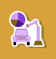 paper sticker on stylish background automotive vector image vector image