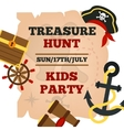Pirates kids party announcement poster vector image vector image