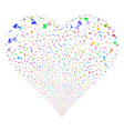 radio transmitter fireworks heart vector image vector image
