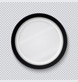 realistic circle black photo frame isolated on vector image vector image