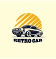retro car logo design vector image vector image