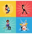 Rock band music group vector image vector image