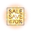 Sale banner on abstract background vector image vector image