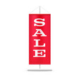 sale text on red pennant isolated on white vector image vector image