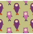 Seamless pattern with magic cute fish Girl and vector image vector image