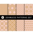 Seamless patterns set Geometric textures vector image vector image
