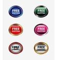Set of free shipping icon button vector image vector image