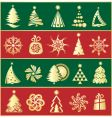 set of gold firs vector image vector image