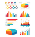 set of pie charts and bar graphs for infographic vector image vector image