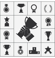Set of trophy and award icons vector image vector image