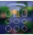 Set polygonal frames vector image vector image