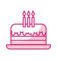 shadow birthday cake cartoon vector image vector image