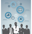 Silhouette businessman vector image vector image