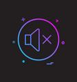 sound volume off icon design vector image