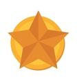 star gold medal winner graphic vector image