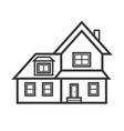 suburban real estate house icon vector image vector image