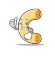 thumbs up macaroni character cartoon style