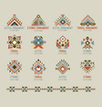 tribal native pattern set vector image