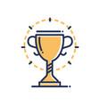 trophy - modern single line icon vector image vector image