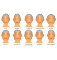 types of faces vector image