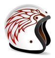 vintage race helmet vector image vector image