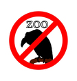 Vulture in zoo prohibited vector image vector image