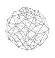 wireframe connecting sphere vector image vector image