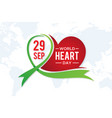 world heart day letter vector image vector image