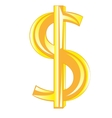 Sign dollar golden vector image