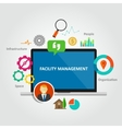 facility management facilities building vector image