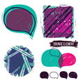 Abstract background and bubble speech vector image vector image