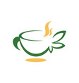 abstract cup tea image vector image