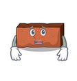 afraid brick mascot cartoon style vector image vector image