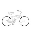 beach cruiser bicycle single continuous line vector image