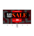 billboard with sale poster black friday ad vector image vector image