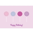 Birthday card with lollipops vector image vector image