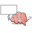 bring board brain character cartoon mascot vector image vector image