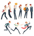 business competition business people competing vector image vector image