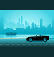 businessman driving a convertible luxury car vector image vector image